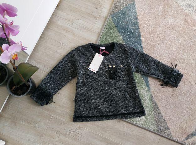 Теплая кофта реглан батник свитер на девочку 122/128 см.