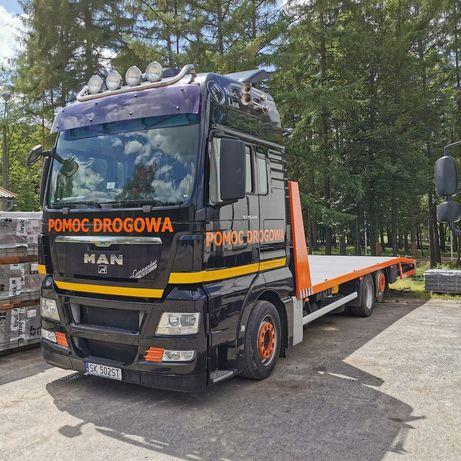Transport maszyn budowlanych rolniczych. Przeżut