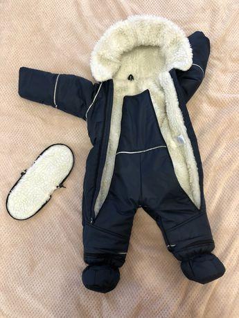 Зимовий комбінезон для немовляти хлопчика