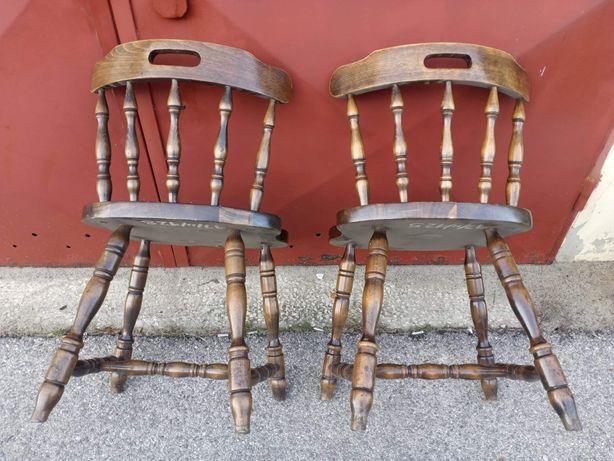 Krzesła PRL Bonanza Nevada retro antyki stare drewniane