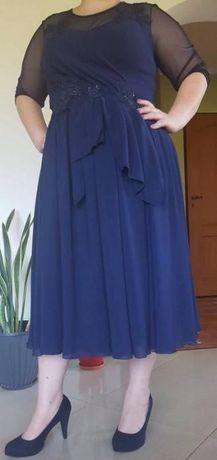 Granatowa sukienka rozm 46-48