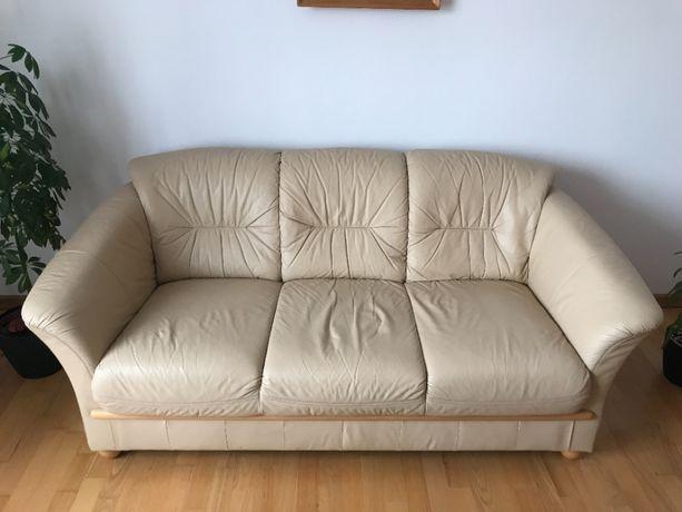 Skórzany komplet wypoczynkowy KLER kanapa fotele