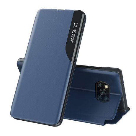 Capa Livro Horizontal Lmobile Poco X3 Nfc - Azul