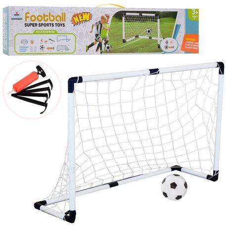 Футбольные ворота 120-80-40см/Сетка'Мяч'Насос'Ворота.