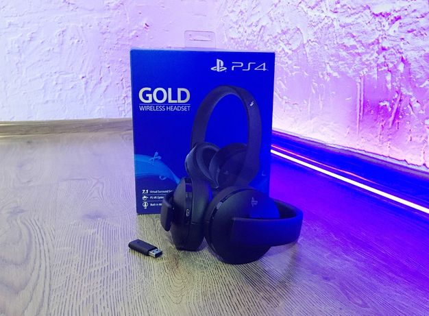 Наушники Sony PlayStation Wireless Gold Headset (Black) / PS4, PS5
