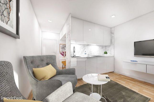 Apartamento T1 NOVO, com terraço em Leça da Palmeira