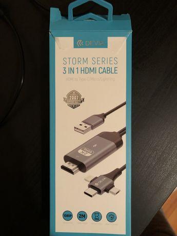 Vendo adaptador triplo -  Lightning / USB-c/micro para HDMI