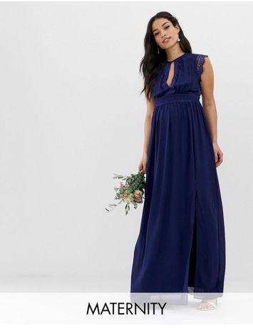 Sukienka ciążowa TFNC London Maternity 38 M wesele maxi Asos Chi Chi