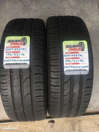 2 pneus semi novos continental 195/55/16 - Oferta dos portes