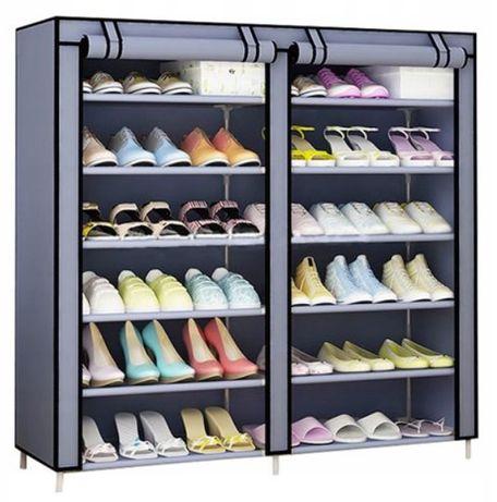 Szafka na buty 12x półka organizer garderoba szara