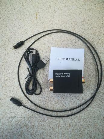 Conversor de áudio digital SPDIF e óptico (SPDIF) -> analógico