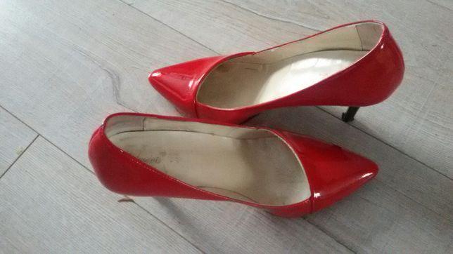 Buty szpilki 39 czerwone obcas