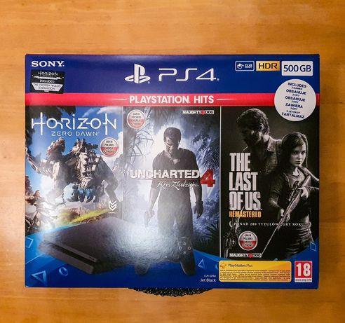 PlayStation 4 slim 500gb + dysk 2T + 14 gier