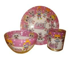 Набор детской посуды 3 предмета Лол