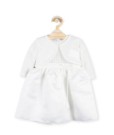 Sukienka do chrztu z bolerkiem Coccodrillo rozm 62 cm