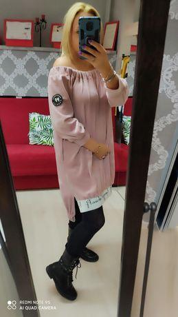 Paparazzi welurowa sukienka tunika s m l xl.xxl xxxl
