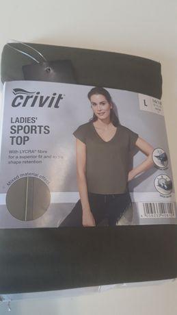 Футболка новая Crivit спорт L, спортивная футболка топ майка