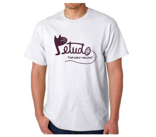 T-Shirt branca petudo