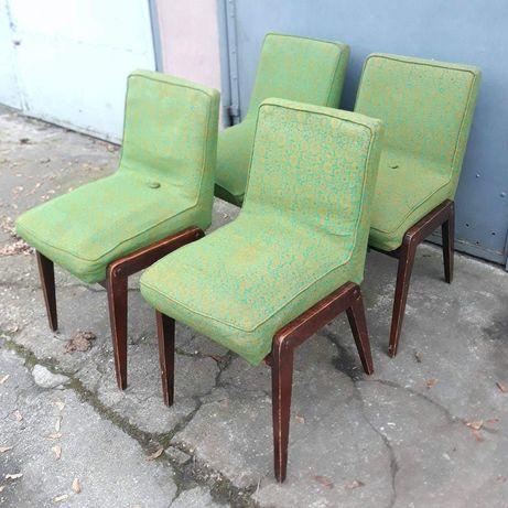 Krzesła AGA Chierowski PRL 60te design new look vintage loft retro