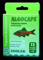 Zoolek Algocaps 12 kaps. - preparat akwarystyczny zapewniający czystą