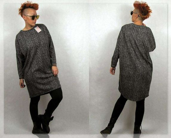 Wyjątkowa włoska tunika/sukienka najnowsza kolekcja M/L Polecam!