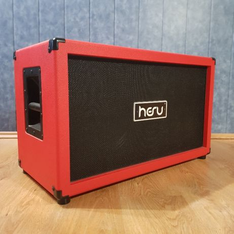 Kolumna gitarowa paczka HESU głośniki Demon czerwona M212 RB-B 2x12 8Ω