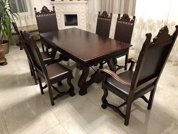 Стіл і крісла, стол и стулья, антикваріат, меблі з європи