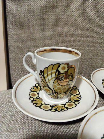 Фарфоровые чашки с блюдцами времён СССР