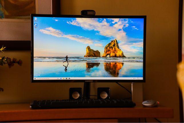 Kit Pc + Monitor + Teclado + Rato