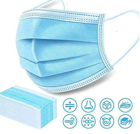maski maseczki ochronne 3-warstwowe jednorazowe, maseczka ochronna