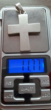 OKAZJA!!!Srebrny Męski Krzyżyk  Srebro próba 925