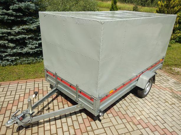 Przyczepka towarowa TEMA 3015 Lekka z zabudową stalową DMC 700kg