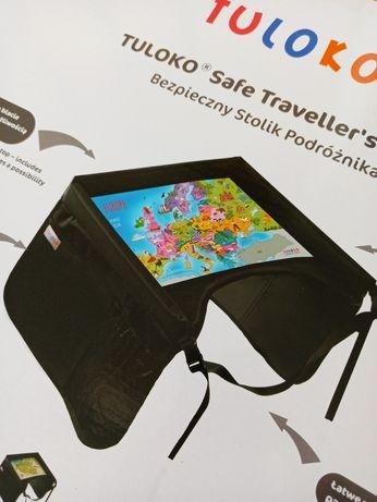 TULOKO - Bezpieczny stolik do podróży dla dziecka - NOWY ( różowy )