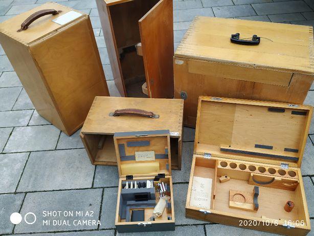 Stare drewniane skrzynki szafki lata 70 80 prl Vintage Loft Industrial