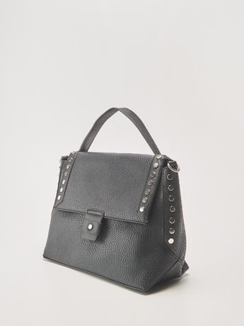 NOWA torebka czarna A4 kuferek torba listonoszka skórzana na prezent