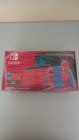 Consola Nintendo Switch V2 (Mario Red & Blue Edition) (Nova e Selada)