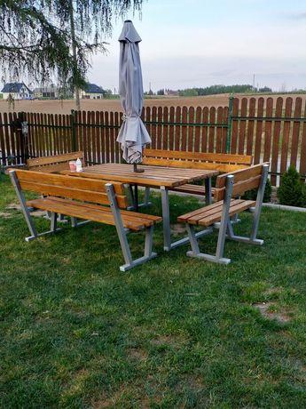 Promocja! Meble ogrodowe 4 lawki i stol