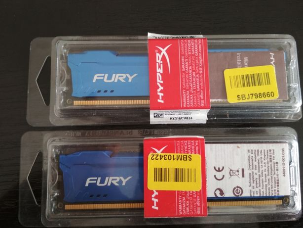 Оперативная память HYPERX FURY DDR3 CL10 2 шт.
