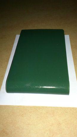 Parapetniki podokienne zewn.z porcelany elektrotechn.szkliwo zielone