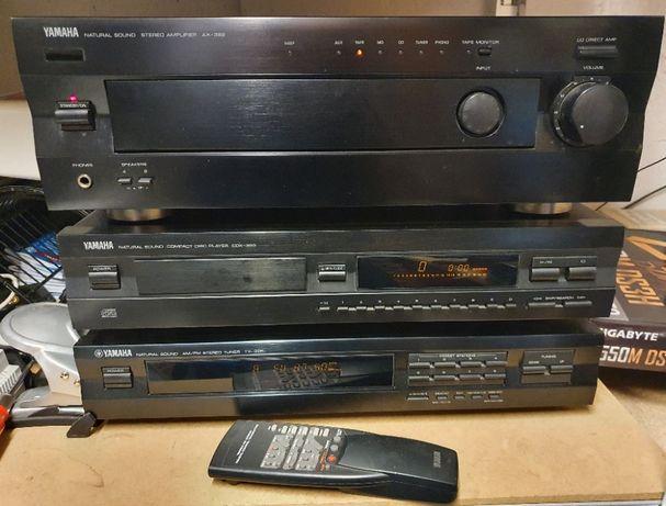 Zestaw stereo Yamaha AX-392, CDX-393, TX-396L