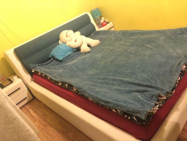 Łoże, łóżko małżeńskie, do sypialni + stelaż +materac! Okazja !