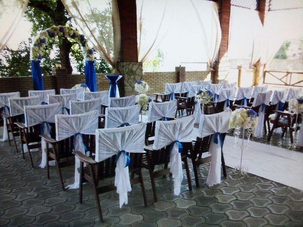 Украшение кафе, ВЫЕЗДНАЯ церемония, свадьба Мариуполь, декор свадьбы