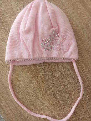 Нова шапка на дівчинку 40-42см