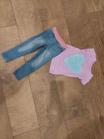 Zestaw spodnie bluzka roz. 98