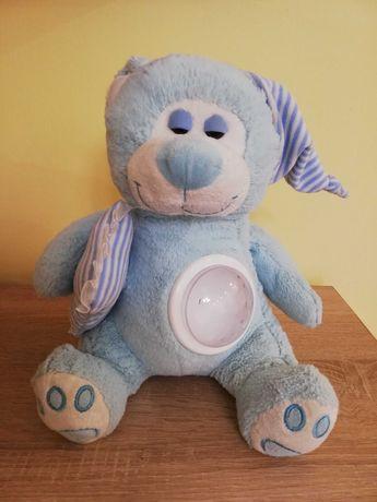 Miś Baby Love niebieski kołysanki projektor