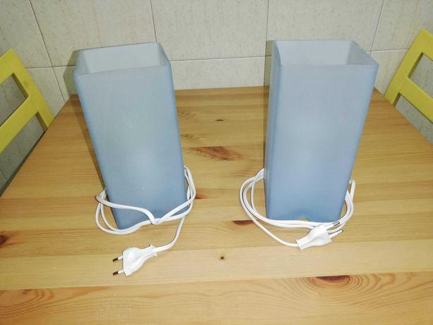 Conjunto de dois candeeiros de mesa de cabeceira