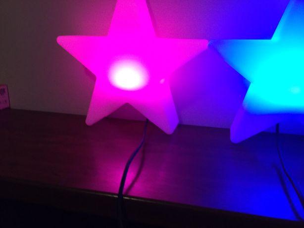 Dwie Gwiazdy 8 Seasons Led RGB 40cm do wewnątrz/zewnątrz pilot