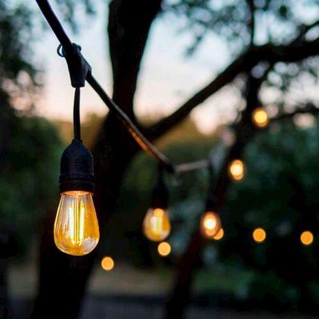 Girlanda Ogrodowa 10m 15m 20m 25m 30m 40m 50m Żarówki LED +HAK
