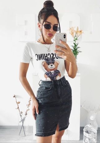 Джинсовая стильная юбка