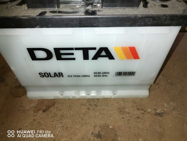 Bateria solar deta